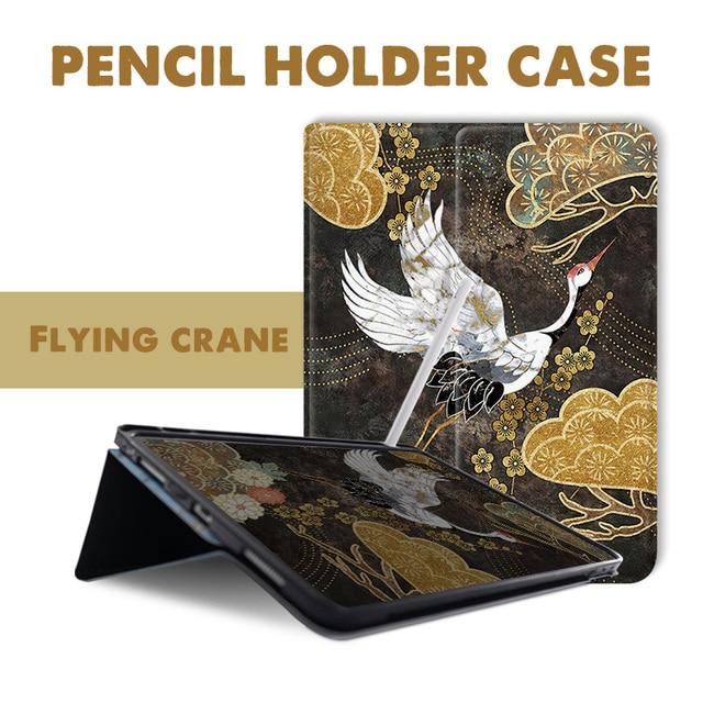 Funda voladora con tapa para iPad Pro 9,7 6th 7th 11 air 10,5 12,9 10,2 Mini4 5 2019, funda para Tablet con portalápices