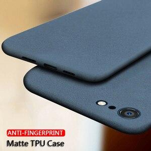 Ultra-Thin Sandstone Matte Back Soft TPU Scrub Cover For iPhone 11 12 Pro MAX SE 2020 6 S 7 8 10 X XR XS Max Plus Phone Case
