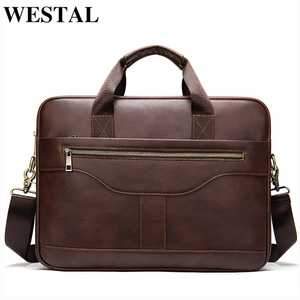 Image 1 - WESTAL messenger bag men briefcase/mens genuine leather laptop bags office bags for men bussiness design bag men leather tote