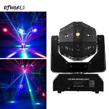 Djworld ilimitado girar dj laser disco led feixe strobe 3 em 1 futebol rollermoving cabeça luz para dmx festa ktv night club barra