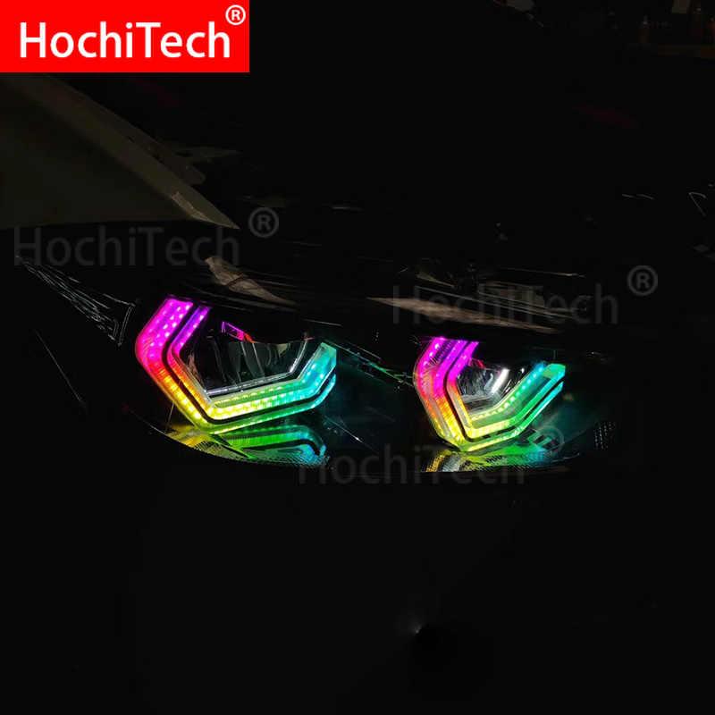 RGBW многоцветный Знаковый M4 Стиль Кристалл глаза ангела комплект дневной свет DRL для BMW 4 серии F32 435i 428i 420d 420i 440i 430i 2013-18