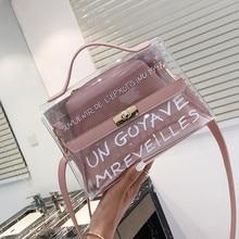 Transparent Handbag Women Shoulder Bag Messenger  High Quality Crossbody Bags Clear
