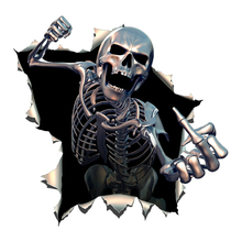 Angry Skeleton Car Stickers Motorcycle Decals Accessories Creativity Personality Waterproof Sunscreen PVC,15cm*15cm rockdale ic016 15cm