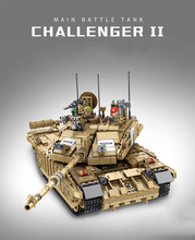 Military Challenger 2 Main Battle Tank Model Building Block Compatible legoeing technology WW2 Army Soldier Model Toys For Boys trumpeter 1 35 czech army t 72m4cz main battle tanks model kit