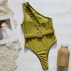Retro wydrukowano jeden kawałki stroje kąpielowe kobiety body strąckąpielowy drążą strój kąpielowy wysokiej talii bikini lato plaża nosić wyściełane 4