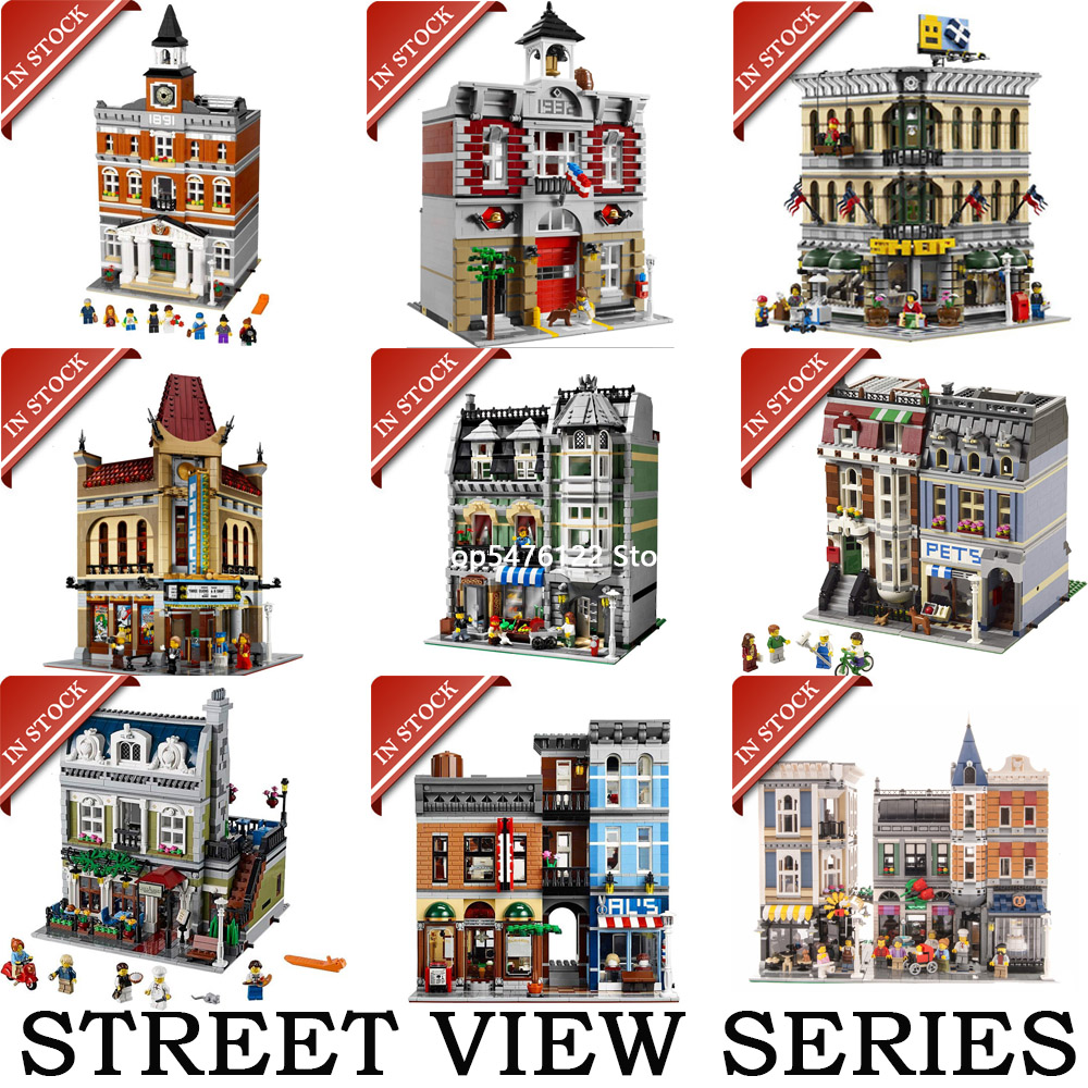Street View Building Blocks Bricks  15001 15002 15005 15006 15007 15008 15009 15010 15011 15019 15037 15039 10270