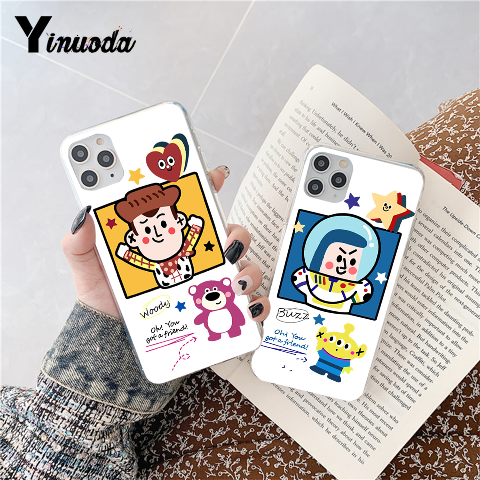 Cartoon <font><b>Toy</b></font> <font><b>Story</b></font> Buzz Woody Soft Shell Phone Cover for <font><b>iPhone</b></font> 11pro MAX 8 7 <font><b>6</b></font> 6S Plus X XS MAX 5 5S SE XR Fundas <font><b>Capa</b></font> image