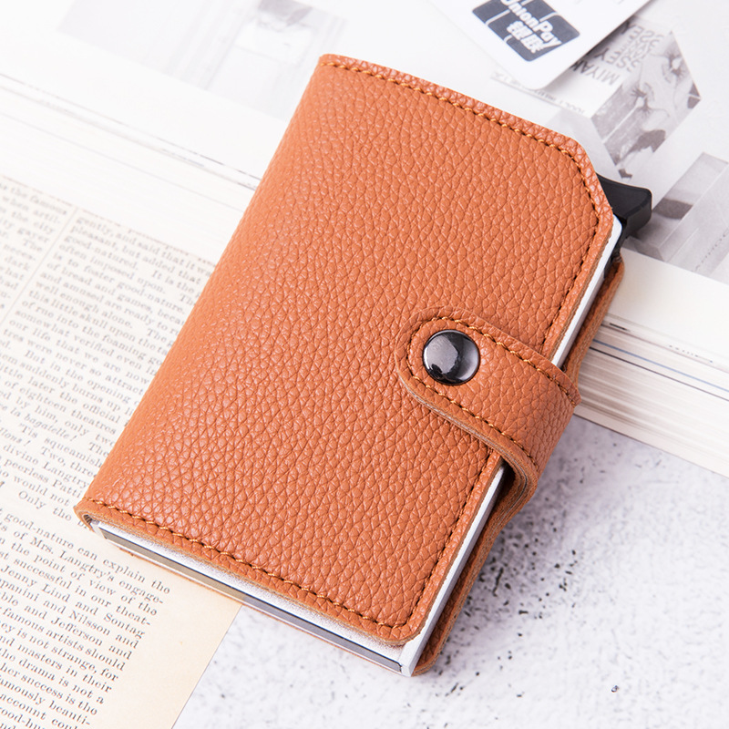 Men Credit Card Holder Business ID card holder Fashion Automatic RFID Wallet Card Case Aluminium Card Holder Wallets porte carte
