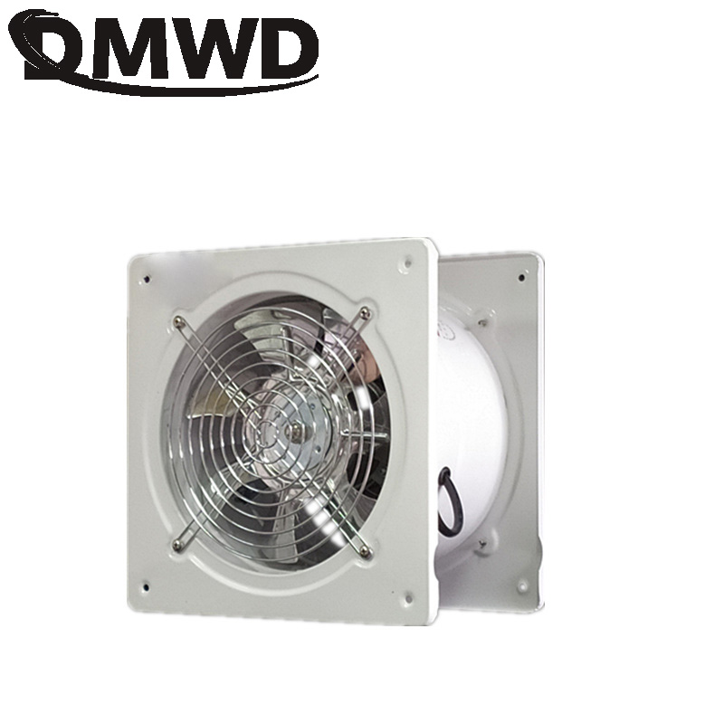 DMWD Mini Metal Cooker Air Vent Hood Side Suction Wall Smoke Range Hoods Booster Kitchen Exhaust Fan Ventilator Extractor Blower