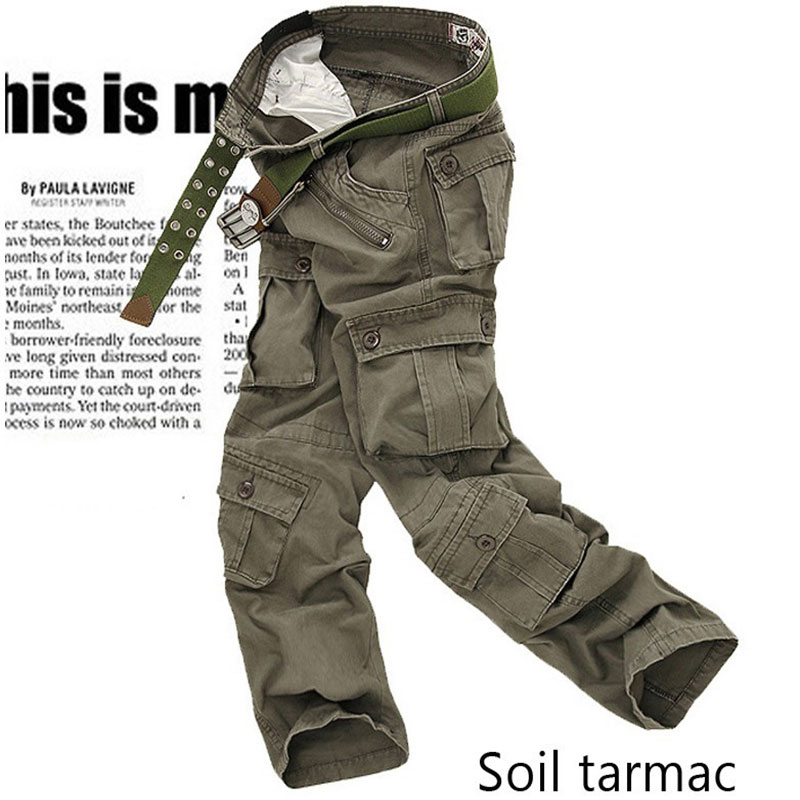 Mens Cargo Pants Black 2020 Summer Fashion Men Army Many Pocket Camo Trouser Male Urban Tactical Straight Camouflage Pants Men