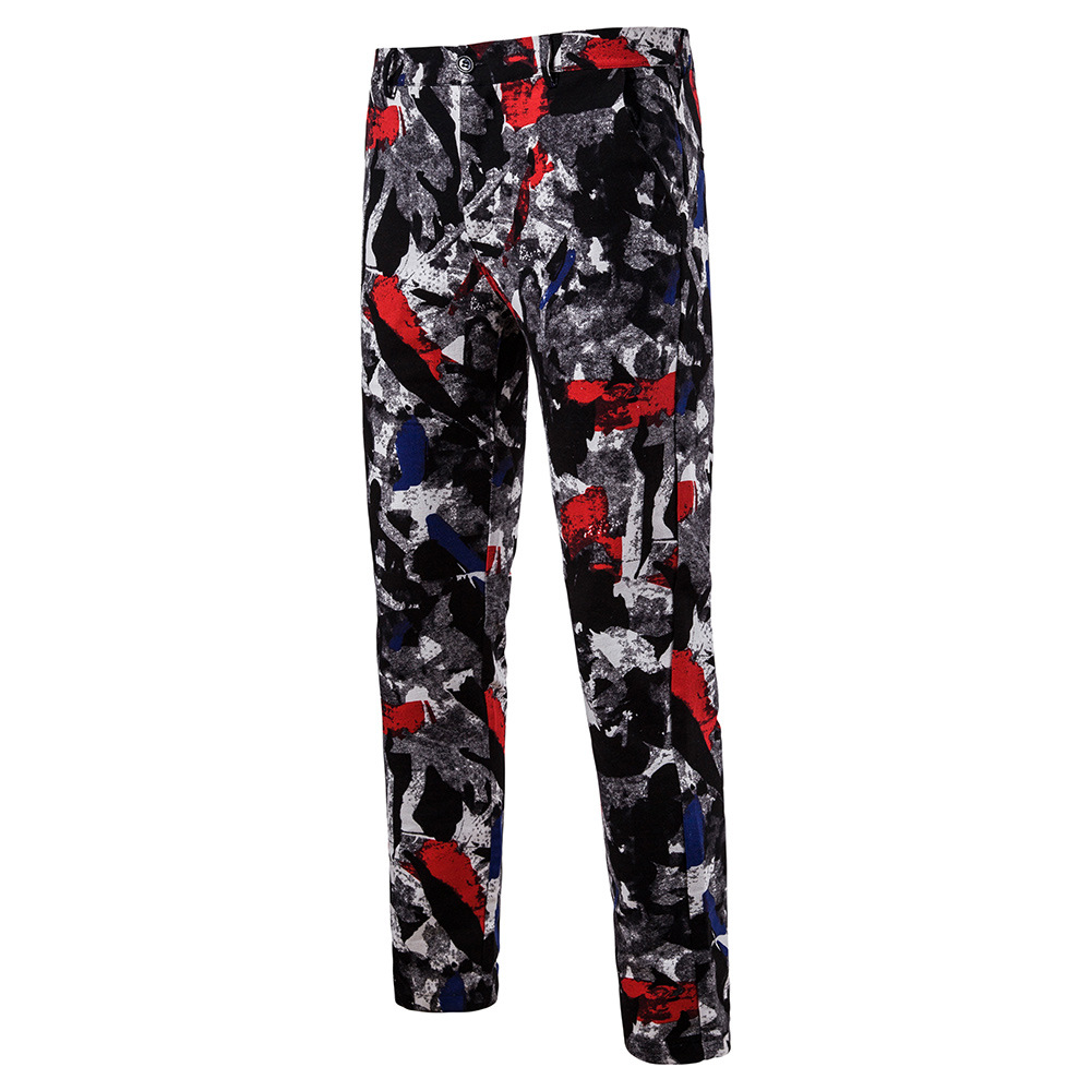 Мужская Мода Национальный Ветер Повседневное модные Для мужчин Блейзер Для мужчин s Брюки - Цвет: 02
