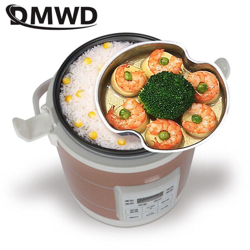 DMWD 1,6 L Mini Elektrische Reiskocher 12V-24V Für Auto Und Lkw Reise Tragbare Suppe Topf kochen Topf 12H Termin