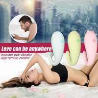 Meselo 8 Modi Silikon Monster Pub Vibrator APP Fernbedienung bluetooth Wireless G-spot Massage Sex Spielzeug Für Frau erwachsene Spielzeug