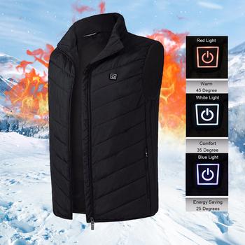Mężczyźni kobiety ogrzewanie elektryczne kamizelka bez rękawów kamizelka termiczna USB odzież zimowe ciepłe kurtka odzież wierzchnia mężczyzna z podgrzewaną wodą kamizelka tanie i dobre opinie TRIPLE INFINITY CN (pochodzenie) Poliester zipper 10920190601 NONE Stałe REGULAR Luźne O-neck Na co dzień Black Blue