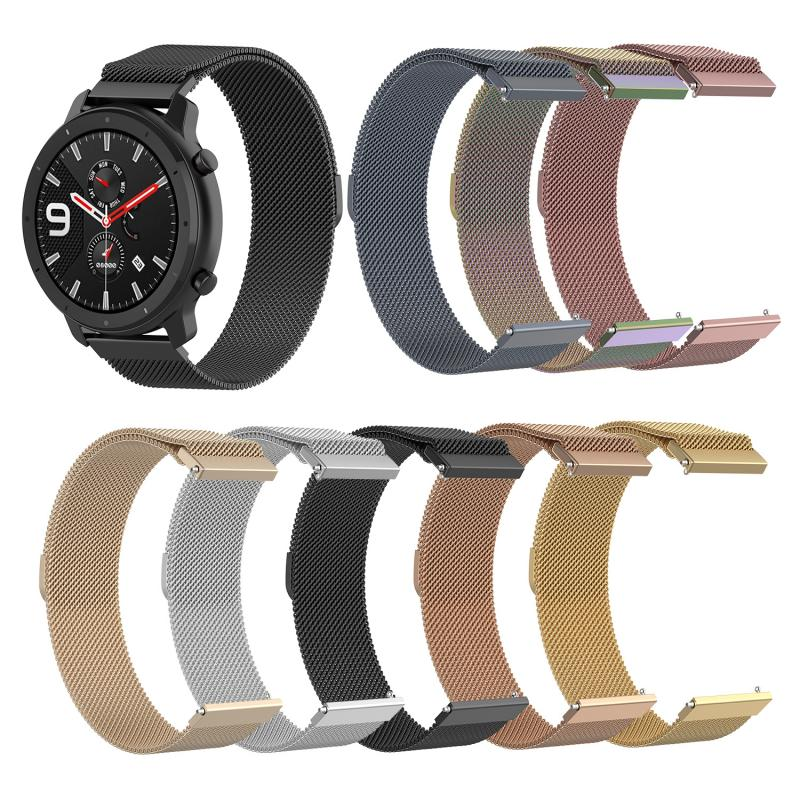 Replacement Strap For Huami Amazfit GTR 47mm Smart Watch Steel Belt Metal Magnetic Watch Sport Strap For Huami Amazfit GTR