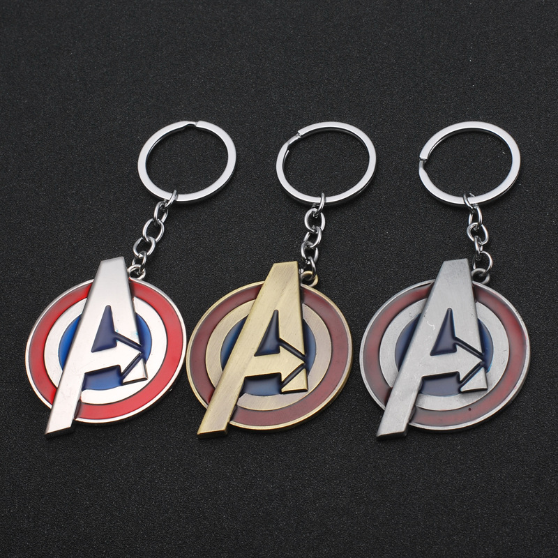 Avengers A Captain America Keychain Metal Key Chain Creative Gift Car Accessories Are Selling Like Hot Cakes Keyring
