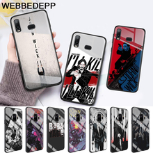 John Wick Pattern Glass Case for Samsung S7 Edge S8 S9 S10 Plus A10 A20 A30 A40 A50 A60 A70 Note 8 9 10 стоимость