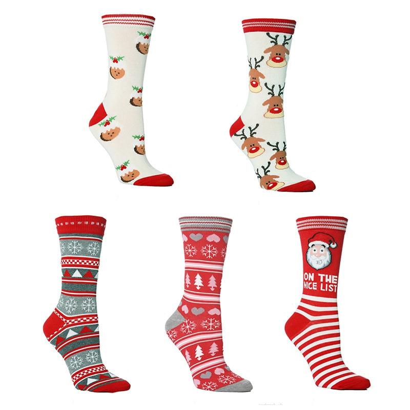 Christmas Socks NEW  Men Women Cute Tube Sock Halloween Funny Socks Christmas Gifts For Women Kawaii Warm Ankle Socks