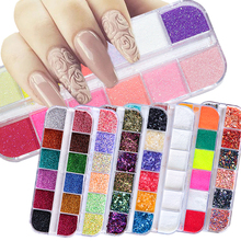 31 Types Nail Glitter Mix Color Flakes Shiny Sequins Dust Ch