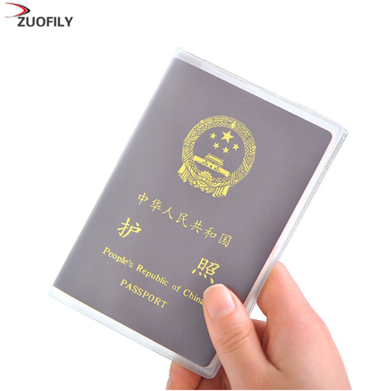 Hot Travel Waterproof Dirt Passport Holder Cover Wallet Transparent PVC ID Card Holders Business Credit Card Holder Case Pouch