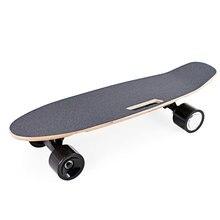 Portable 2019 Electric Skateboard Adults Teenagers Skate Board With Wireless Handheld Remote Control 65cm x 20cm Mini Longboard цена и фото
