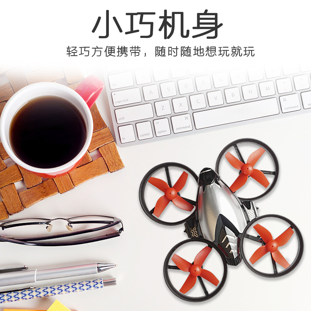 New Products DIY Mini Remote Control Aircraft Assembly Children Small Quadcopter Model Airplane Remote Control UAV Toy