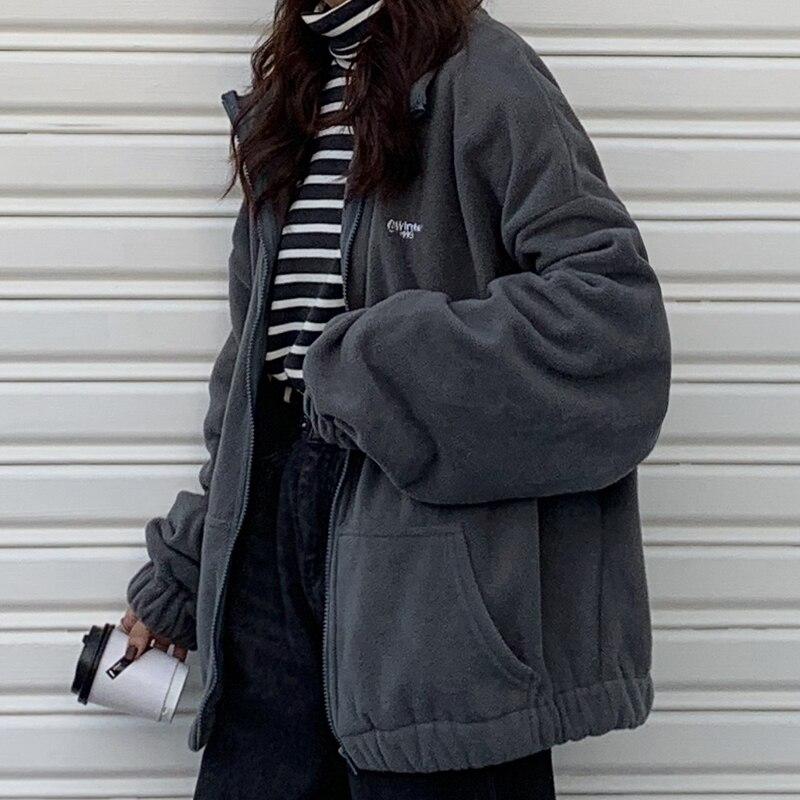 Hoodies Women Zip-up Turn-down Collar Printed Pocket Long Sleeve Korean Style New Trendy Casual BF Ulzzang Harajuku Womens Daily 10