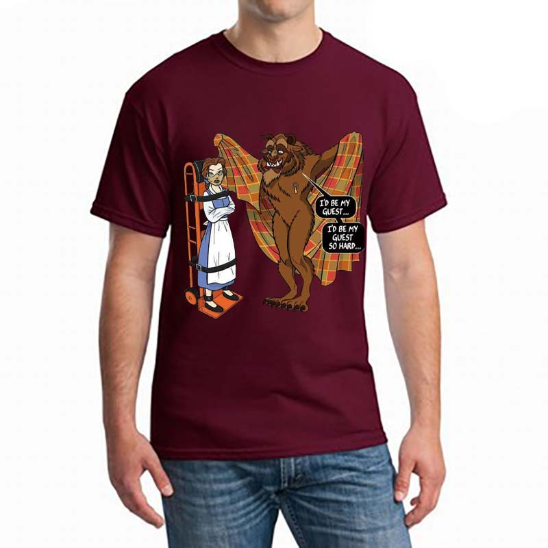 Beauty and The Beast T-Shirt Unisex Silence Of The Lambs Hannibal Cotton New Mans Unique Cotton Short Sleeves O-Neck T Shirt