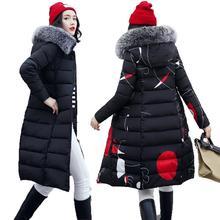 Double-sided Wear Long Parka Women Down Jacket 2019 Warm Thick Female Hooded Fur