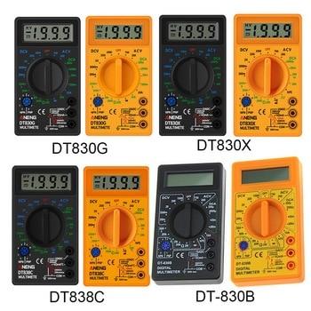 Multímetro Digital voltímetro amperímetro ohmímetro probador de corriente pantalla LCD DT830B negro DC10V ~ 1000V 10A AC 750V