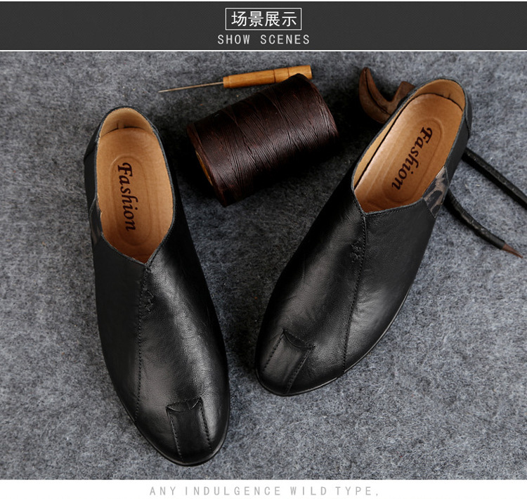 Solid Spring Autumm Casual Loafers Shoes for Men Classics Concise Light Flat Slip On Shoes Fashion Leisure Driving Shoes 44
