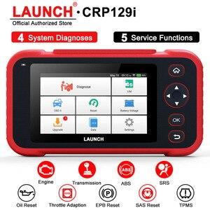 Image 1 - LAUNCH escáner automotriz CRP129i OBD2, cuatro sistemas, EPB, SAS, TPMS, reinicio de aceite, EOBD, OBD2, herramienta de diagnóstico de coche