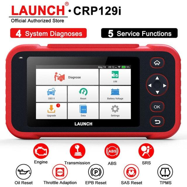 LAUNCH escáner automotriz CRP129i OBD2, cuatro sistemas, EPB, SAS, TPMS, reinicio de aceite, EOBD, OBD2, herramienta de diagnóstico de coche
