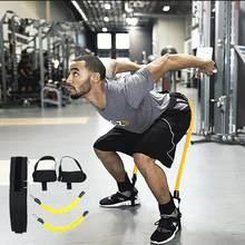 Cuerda de entrenamiento de rebote para Fitness, banda de resistencia para baloncesto, tenis, correr, salto de pierna, equipo de correa de entrenamiento de agilidad
