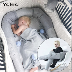 Newborn Baby Bed Bumper Infant Bed Crib Protection Kid Baby Bedding Accessories 185cm Children Crocodile Pillow Toddler Room Toy