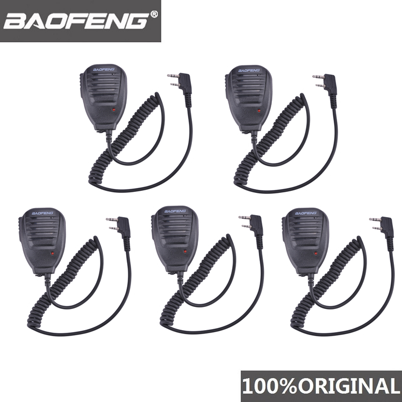 5pcs BaoFeng Walkie Talkie 10 Km Microphone MIC Speaker For Walkie-talkie UV-5R BF-888S DMR Radio Scanner Vhf Amador Accessories
