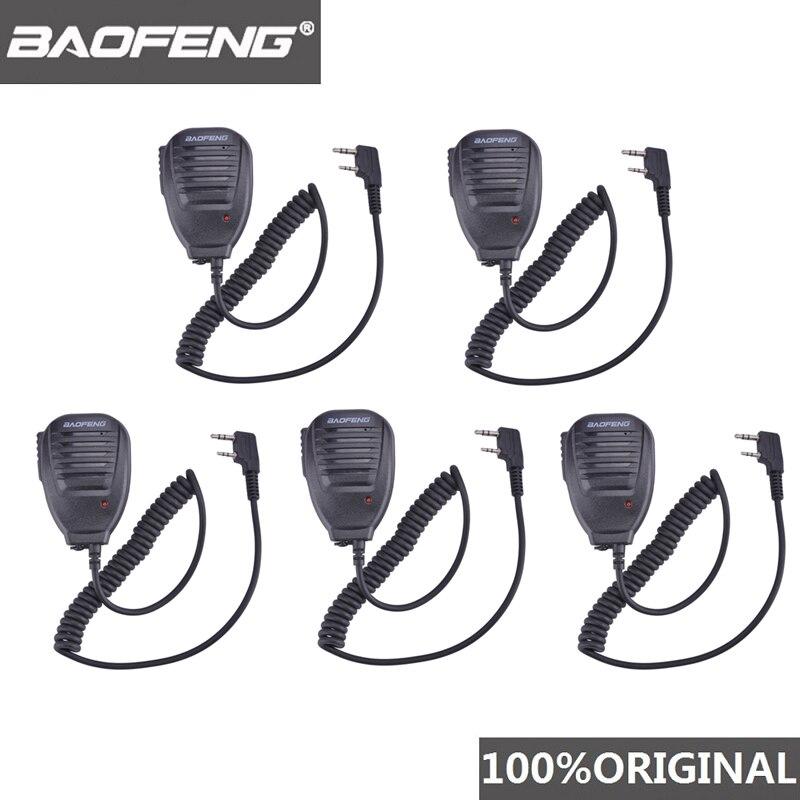 5pcs BaoFeng Walkie Talkie 10 Km Microphone MIC Speaker For Walkie-talkie UV-5R BF-888S DMR Radio Scanner Vhf Amador Accessories
