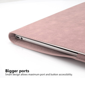 Image 4 - PU Leather Laptop Case for MacBook Pro 16 Inch Angle Guard Shockproof Stand Tablet Case for MacBook Pro Notebook Case + Bracket