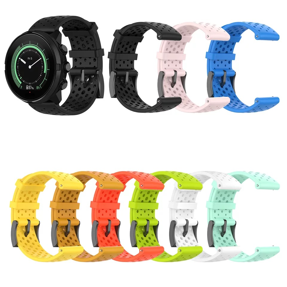 Watch Accessories For Suunto 9 D5 Watchband Band For Suunto Spartan Sport Suunto Spartan Sport Wrist HR/Baro 24mm Silicone strap