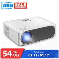 AUN Full HD LED Projector AKEY6, 1920x1080P, 5800 Lumens, Mini Projector For Home Cinema, 3D Video Beamer(Optional Android WiFi)