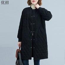 Женская Вельветовая куртка средней длины винтажная Толстая шерстяная