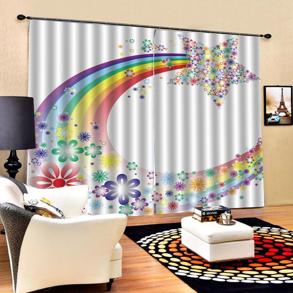 rainbow curtains 3D Window Curtain Dinosaur print Luxury Blackout For Living Room Decoration curtains