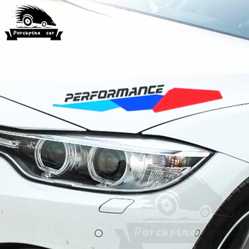 Car Stickers M Performance Engine Hood Cover Accessories for BMW X5 X6 E46 E60 E61 E70 E85 E87 E90 E83 F10 F20 F30 car decals image