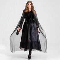 Halloween Costume Witch Cosplay Dress Long Dress Ghost Bride Dress Vampire Cosplay Witch Costume Elegant Temperament Charming