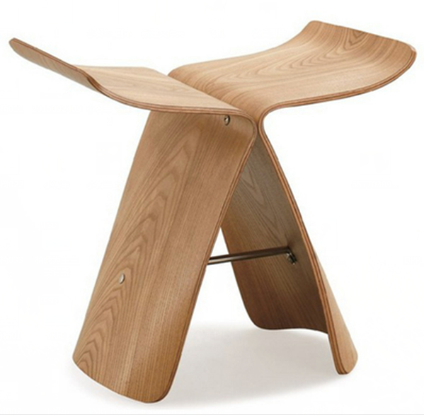 Butterfly Stool Originality Characteristic Bend Wood Low Stool Walnut Wood Solid Wood Chair Shoes Stool