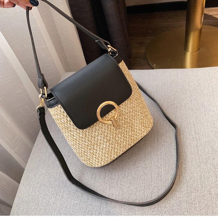 Fashion Straw Crossbody Bag for Summer 2021