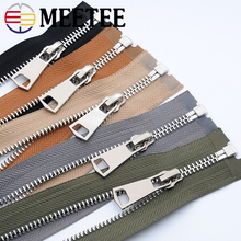 Meetee 5# Metal Zipper 85cm Open-end Zip for Jacket Leather Down Clothes Clasp Accessories DIY Sewing Craft A3-10