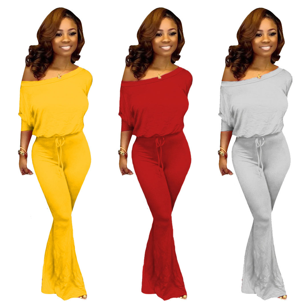 HAOYUAN Sexy 2 Piece Set Women Tracksuit Fall Clothes Full Sleeve Top And Flare Pant Sweat Suit Two Piece Outfits Matching Sets