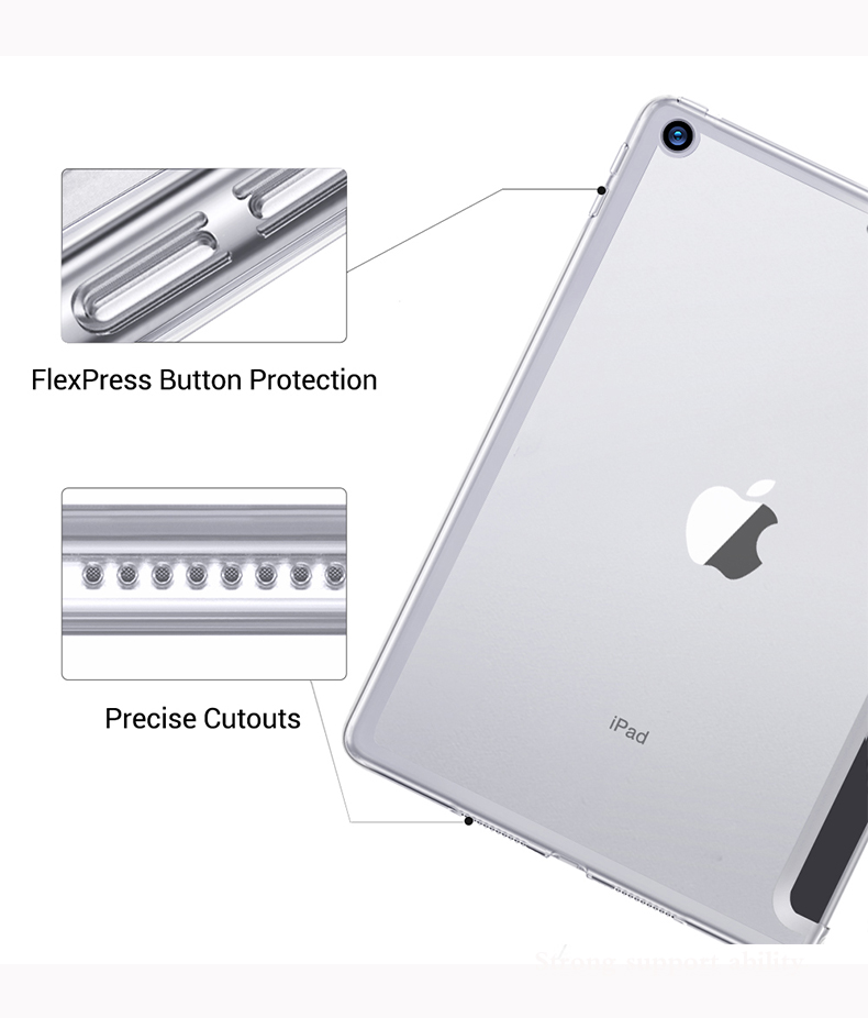 Trifold A2232 Apple for A2198 A2200 Tablet-Case Auto-Wake-Cover iPad 7th-Generation Smart