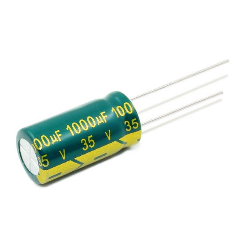 FlashingGoldUniverse 35V 1000UF 1000UF 35V  Power Supply Special High-frequency Crystal 100pcs Size:10*20MM New